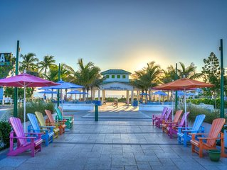 By the beach condo with pool and barbecue areas