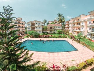 2 BHK POOL VIEW APARTMENT IN CALANGUTE FULLY  AC