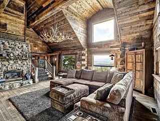 UNPARALLELED HOME, ONE OF A KIND RUSTIC MOUNTAIN ELEGANCE w/VIEWS sleeps 16