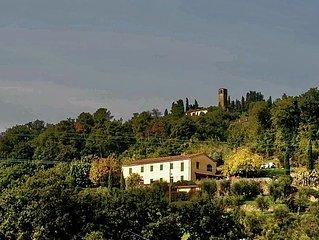 Country Villa - panorama esclusivo - posizione ottima x Pistoia, Firenze e Lucca