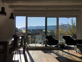 Ferienhaus mit Bergblick