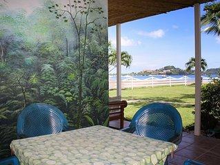 Inviting 2 bedroom beachfront condo close to restaurants and activities!