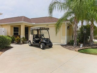 Upgraded Villa Surrounded by Golf Courses. Gas Golf Cart.