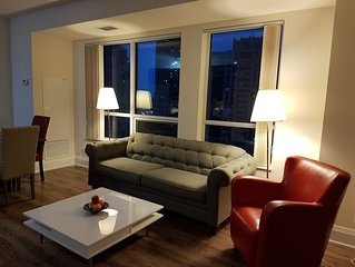 Charmiing and bright fully frnished condo , free parking