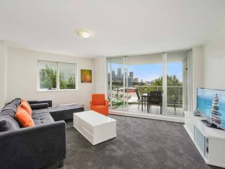 Views of the Bridge and Opera House from this Executive 2BR Apartment in Darling