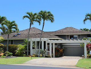 Poipu 3 Bd/4BA~ Pool~on Golf Course~Mt/Ocean View~Beach-Brand New Kitchen