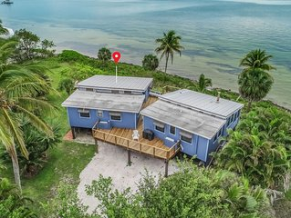 Twin waterfront cottages with beautiful views and relaxing environment