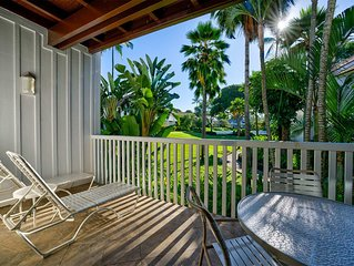 Choice Suite w/Gourmet Kitchen, Tropical Decor, Lanai, WiFi–Kiahuna Plantation #
