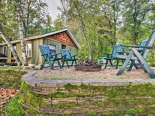 NEW! Waterfront Pequot Lakes Cabin w/Dock+Fire Pit