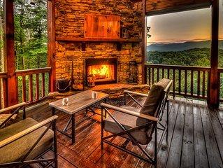 Leatherwood Lodge- Breathtaking Views | Hot Tub | Outdoor Fireplace