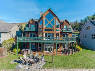 Grandview Lodge - Giant Lakefront Home w/ Private Indoor Pool