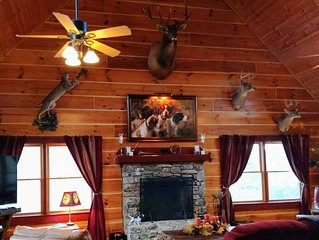 Mill Hill Farm, Luxury Log Home with  stabling near Tryon Equestrian Center.