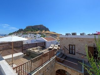 4 Bedroom Modernised Captains House in Lindos Village