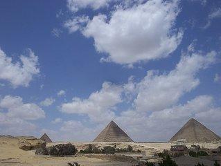 Bellissima vista Piramidi,con aria condizionata, WiFi, e sevizio guida turisica