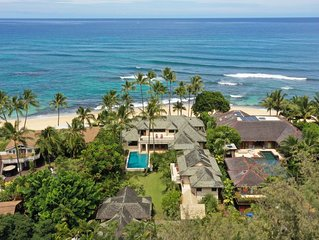 Beautiful, Spacious BEACHFRONT Family Home in Haleiwa Town Rental By The Month