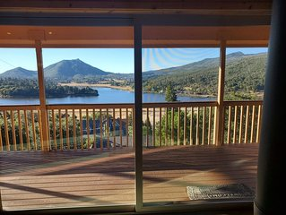 Enjoy the spectacular views from the balcony and cabin at this mountain location