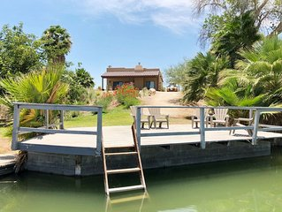 Martinez Lake | Secluded Villa with Private Dock