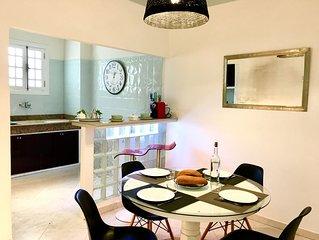 LAU 6-Appart 70 m2, moderne , lumineux, proche gare TGV et ambassade de France.