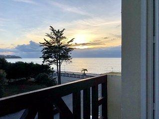 Appartement lumineux Vue Mer et Accès direct plage