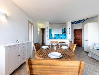 Apartment Villa Balda am Strand mit großem Balkon, schönem Meerblick und Klimaan