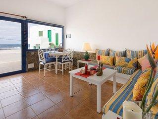 Ferienwohnung in Strandnahe mit WLAN, Terrasse & herrlichem Blick