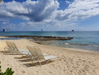 Oceanfront condo seven mile beach