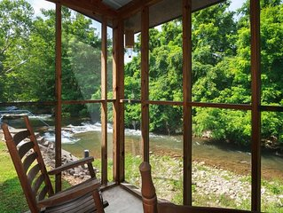 Charming Cottage Right On Cosby Creek!  Enjoy the waterfall from the porch!