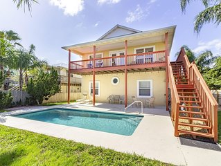 Ocean View Pool Home ~ Great Location ~ Steps to the Beach!