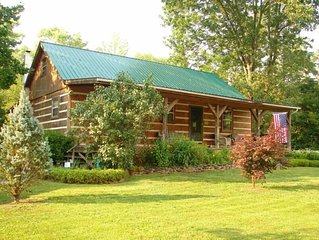 LOG HOME - TROUT STREAM - 3 ACRES - PRIVACY - GAME ROOM - FISHING ON PROPERTY