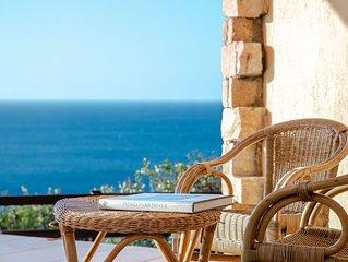 Wunderschöne Villa Aurora in Strandnähe mit Meerblick, Garten, Balkon und Terras
