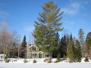 WEST HAGERMAN LAKE HOUSE (Iron River, MI):15 minutes from Ski Brule! Snowmobiler