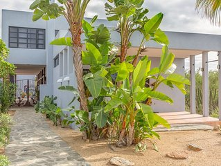 Corbusier Inspired Contemporary In Todos Santo's Las Tunas Beach Neighborhood.