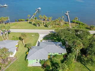 Waterfront home - 250' private dock & boat slip with view of  Sebastian Inlet .