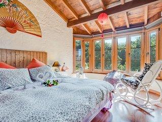 Rustikales Landhaus mit Terrasse, Bergblick, schonem Garten und WLAN