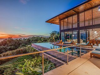 Stunning high end home w/ ocean views & inf. pool