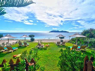 Beach front 'Andriana Elena Villa' with mini pool and spa