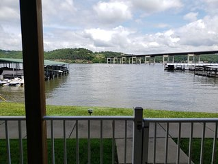 3br, 2Ba condo - Walk-out to the lake!  Easy access to highway, but on the water