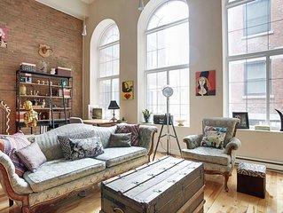 ★ Artistic Old MTL Luxury loft. Notre-Dame Basilica  - WALK EVERYWHERE ★