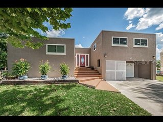 Modern architecture home is bright and spacious with an open floorpan. Located i
