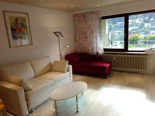 Ferienwohnung Talblick, 75qm, 1 Schlafzimmer, 1 Wohnzimmer, max. 4 Personen