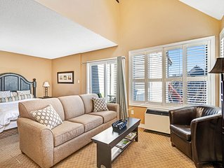 Walk to the chair lift! Lofty condo w/ shared pool, hot tub & tennis - dogs OK!