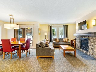 Upgraded, family-friendly, Blue Mountain condo w/ fireplace, patio, & gas grill