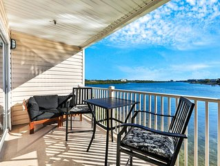 Waterfront condo with shared heated pool and splendid views