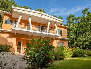 Villa with Lush Garden & Private Waterfall, near Dunn's River, Beaches, shopping