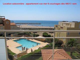 Dans résidence sécurisée avec piscine et accès direct à la mer. Label Clévacance