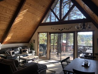 Lake House A Frame in the Pines! 3 beds/2baths - sleeps 10!