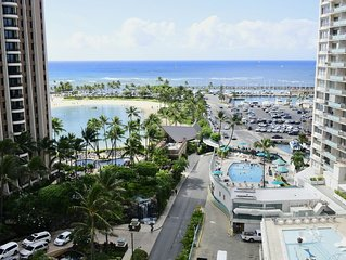 Ocean/Lagoon View - 2Bdrm/2Bath 11th Floor Ilikai Condo