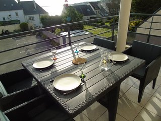 Agreable appartement 3 Pieces a 50m de la Plage