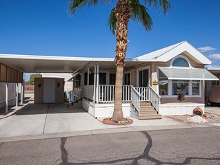 Park Model Home with an Arizona Bonus Room, Fully Furnished