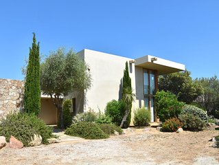 Villa 4 Three bedroom villas. with patio with a large communal  swimming pool.